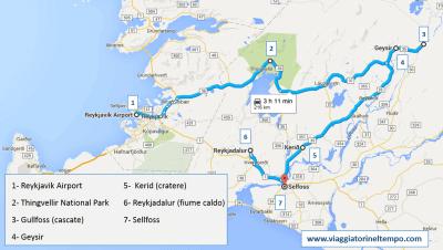 islanda circolo d'oro itinerario