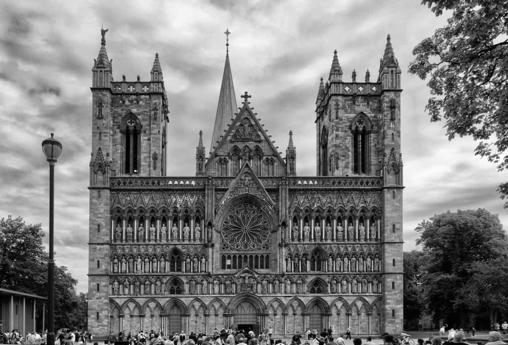 La cattedrale di Nidaros a Trondheim