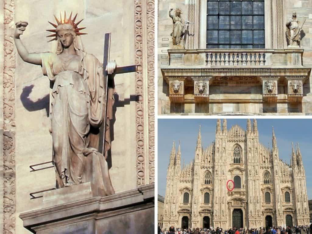 10 luoghi poco conosciuti di Milano - duomo statua libertà
