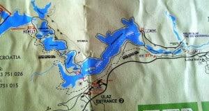 Parco Naturale dei Laghi di Plitvice - mappa del parco