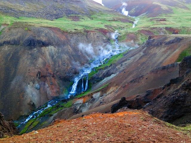 Islanda bagni termali fiumi caldi Hveragerði Reykjadalur