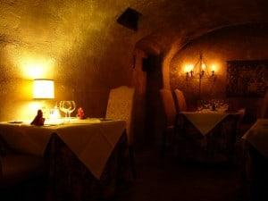 il ristorante-cripta