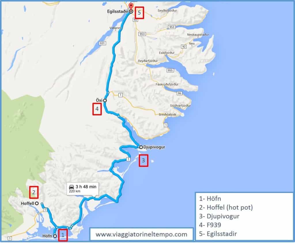 L'itinerario dei fiordi orientali
