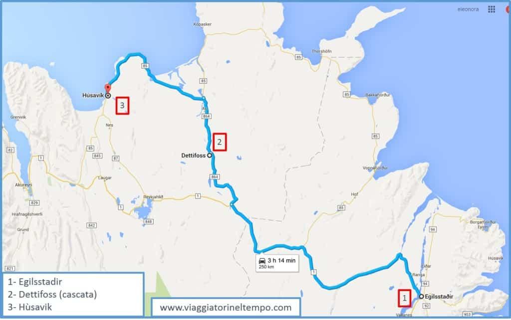 Islanda: Dettifoss, Husavik e l'avvistamento delle balene itinerario