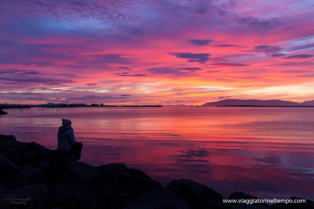 Reykjavik - tramonto alle 2 di notte