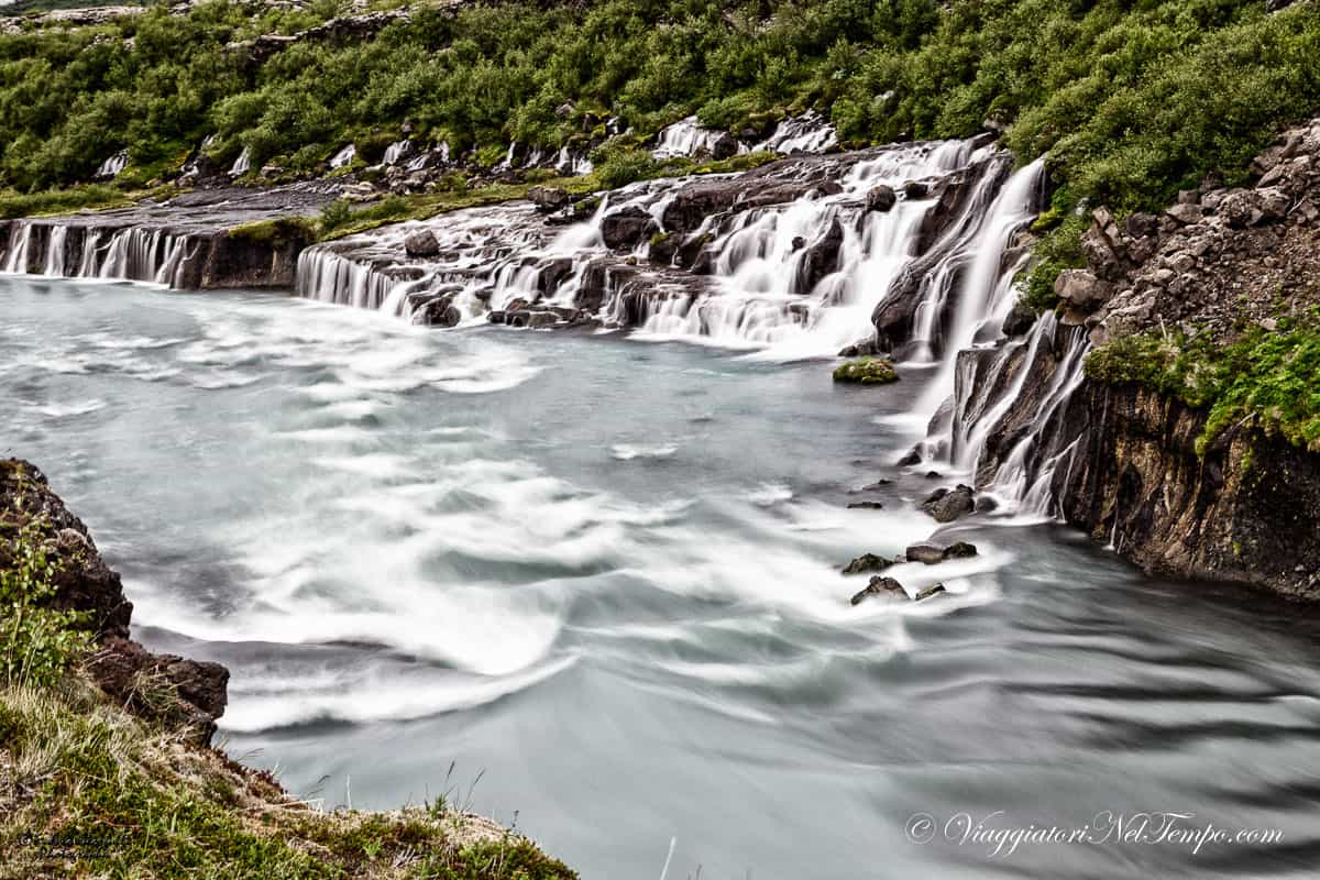 Hraunfossar - Lava field Waterfall