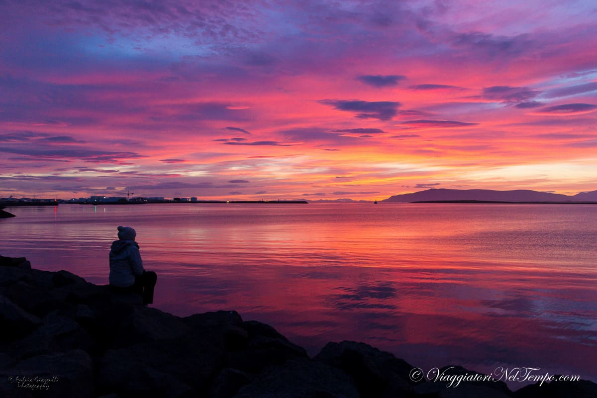 Reykjavik - the most beautiful sunset ever seen
