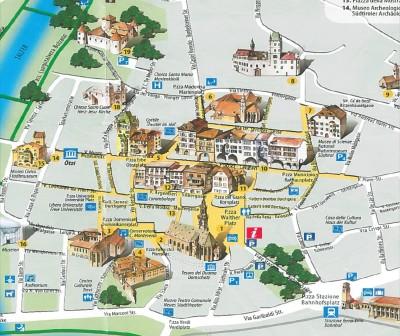 Mappa del Centro di Bolzano