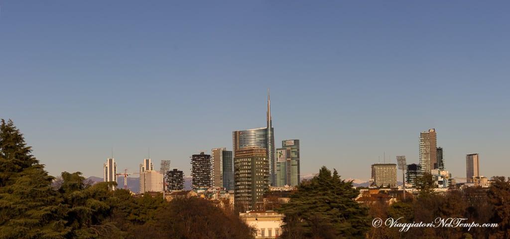 Milano dall'alto - skyline dalle Terrazze della Triennale