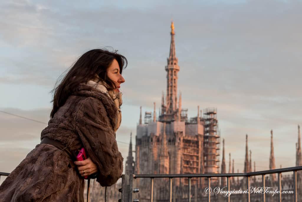 Milano dall'alto - Passerelle della Galleria Vittorio Emanuele