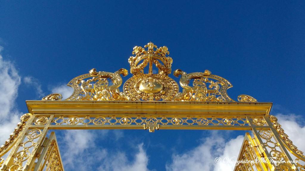 Visita alla reggia di Versailles - il portone d'Ingresso
