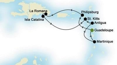 Crociera ai Caraibi - itinerario