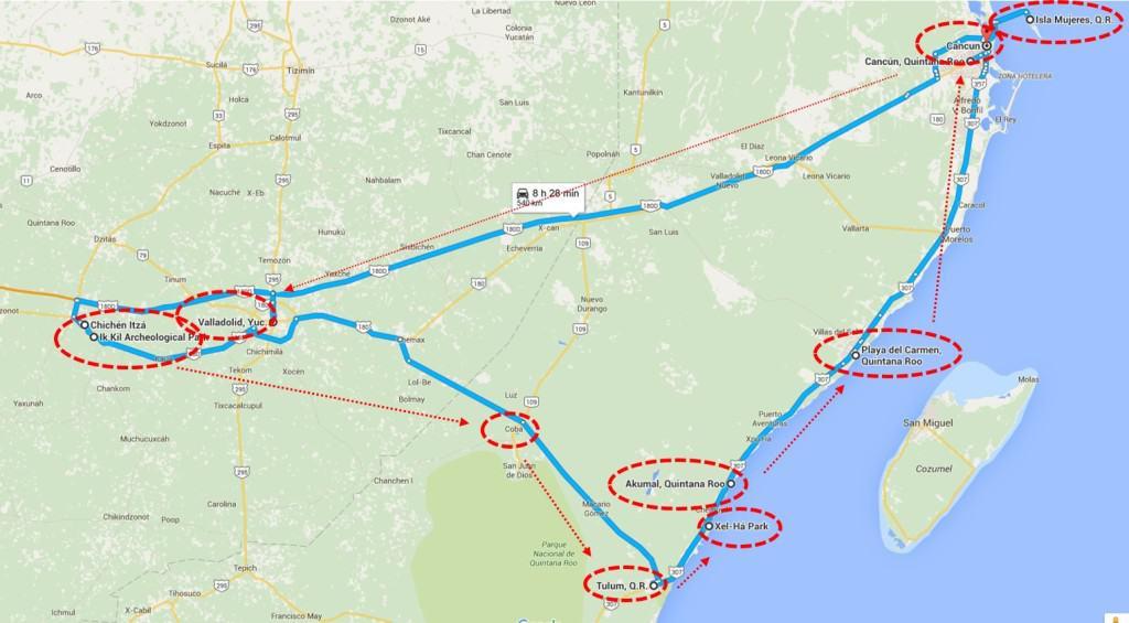 messico il racconto: il nostro itinerario