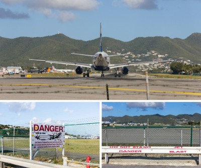 Maho Beach - Boeing in partenza