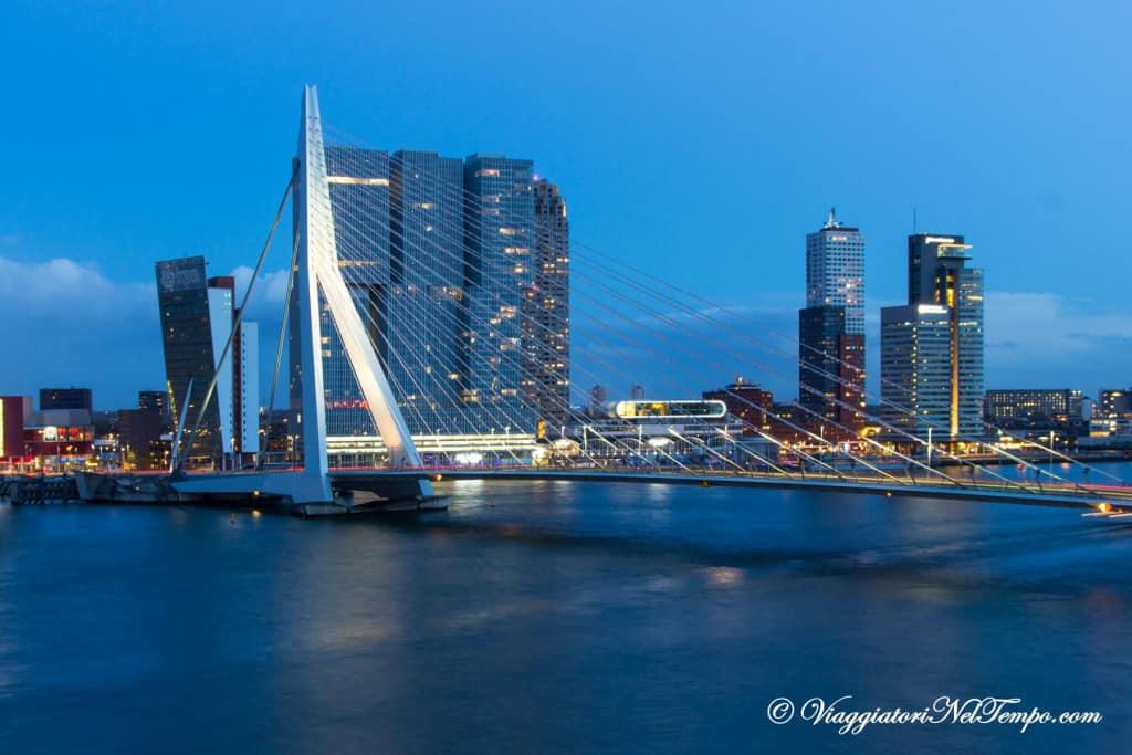 Visita Rotterdam PONTE ERASMUSBRUG e DE ROTTERDAM
