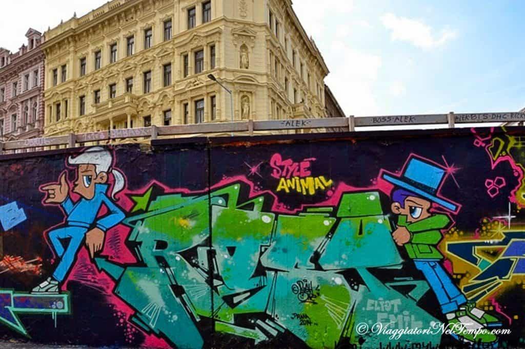 street art Praga tesnov