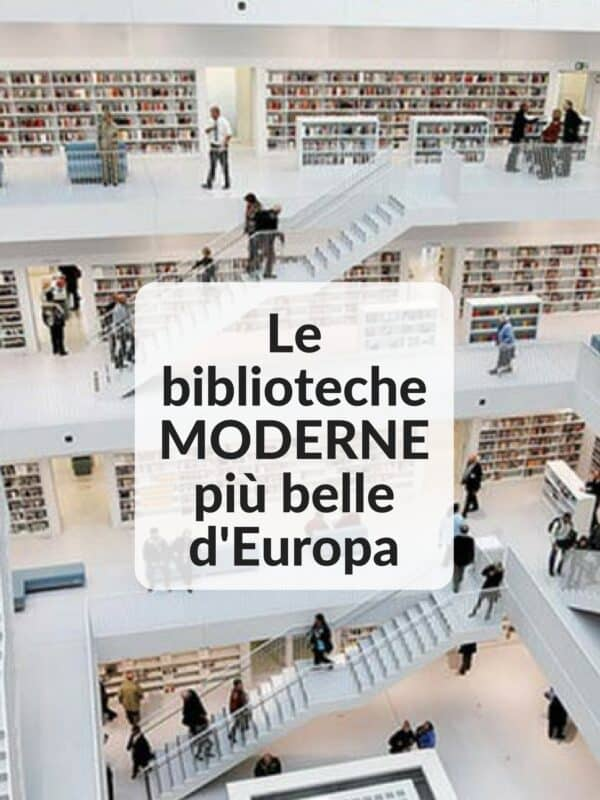 Le biblioteche MODERNE più belle d'Europa