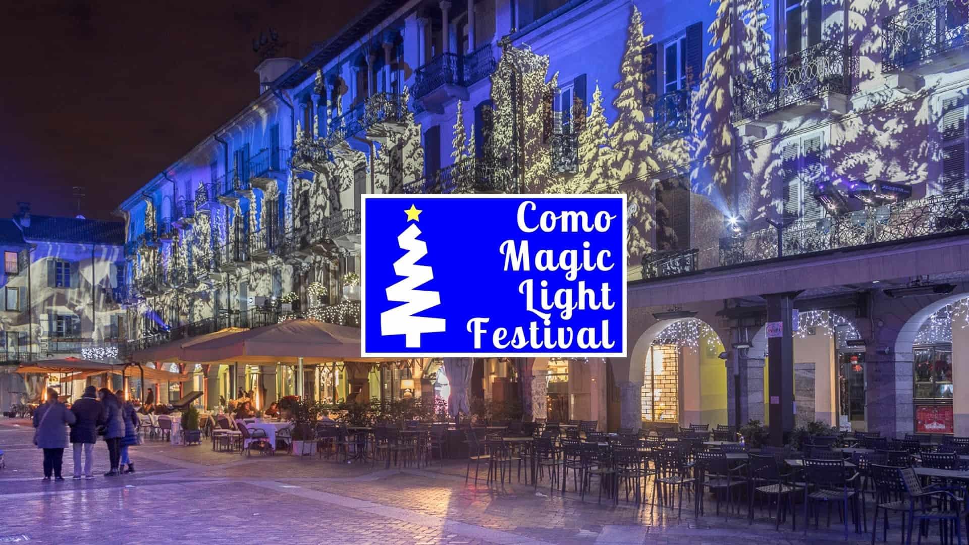 Luci natalizie a como: da non perdere il como magic light festival