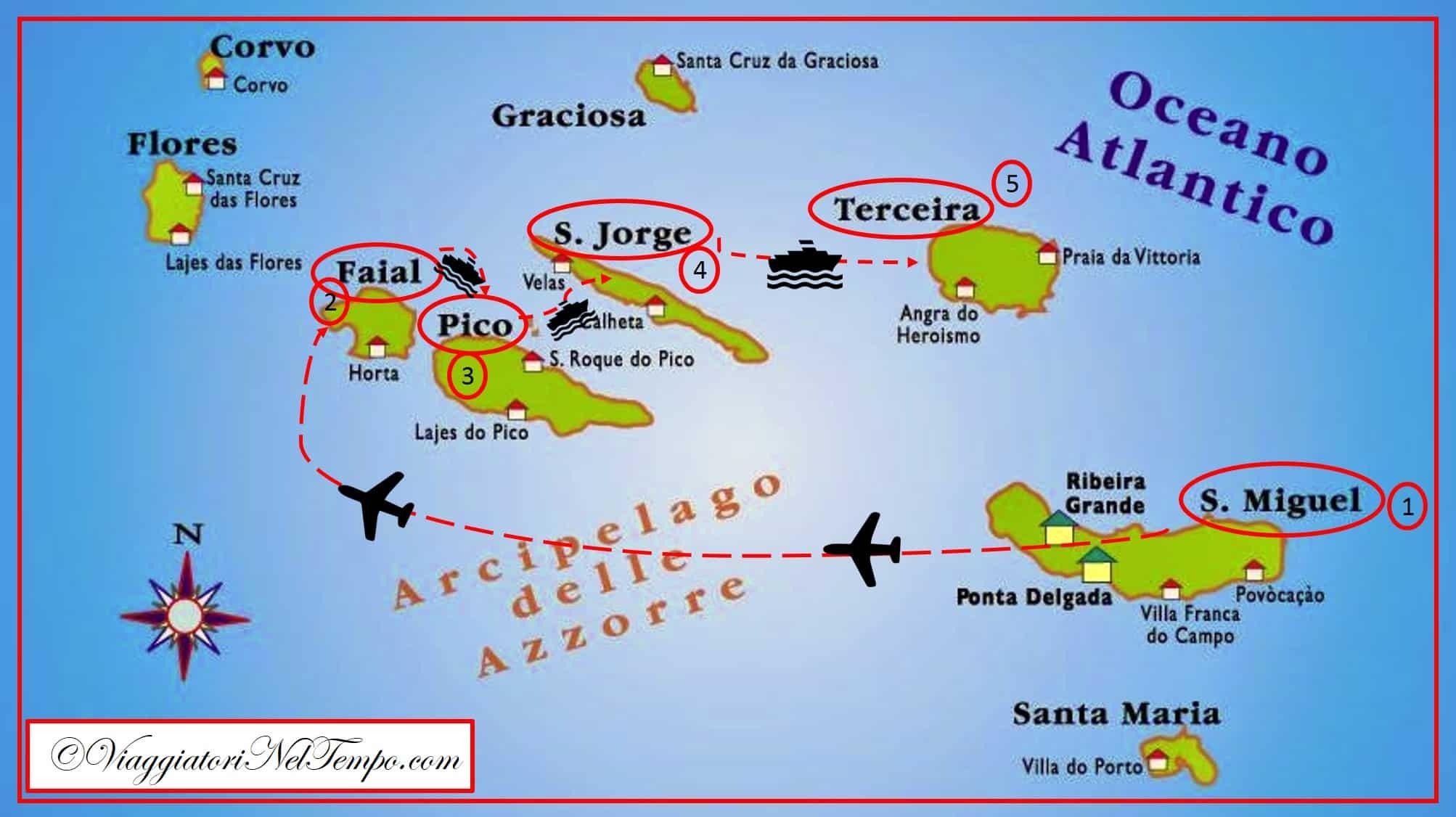 Cartina Geografica Portogallo E Isole.Isole Azzorre Racconto Di Viaggio E Itinerario Di Una Vacanza All Insegna Della Natura