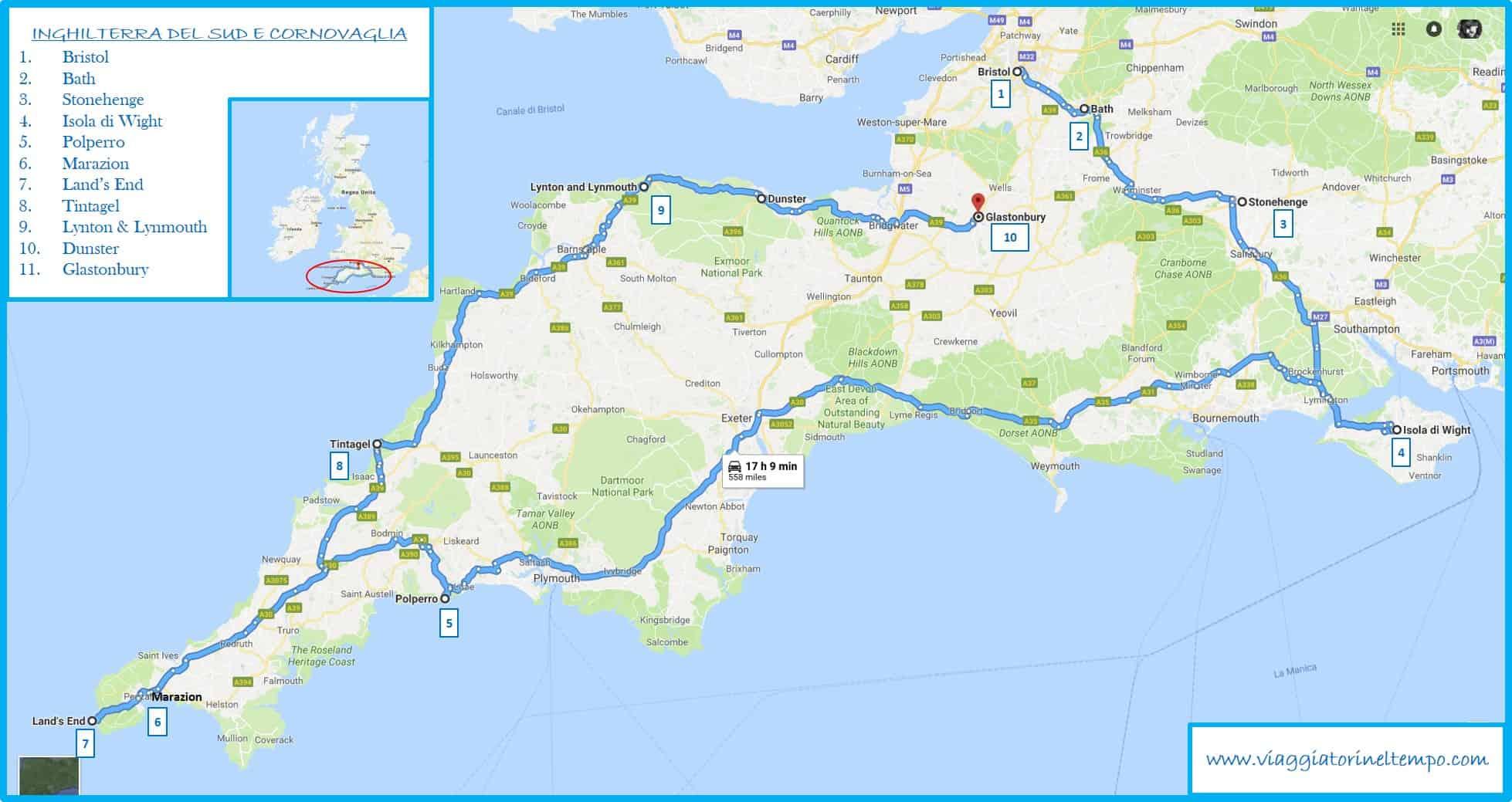 Cartina Cornovaglia.Inghilterra Del Sud Cornovaglia E Galles Racconto Di Viaggio