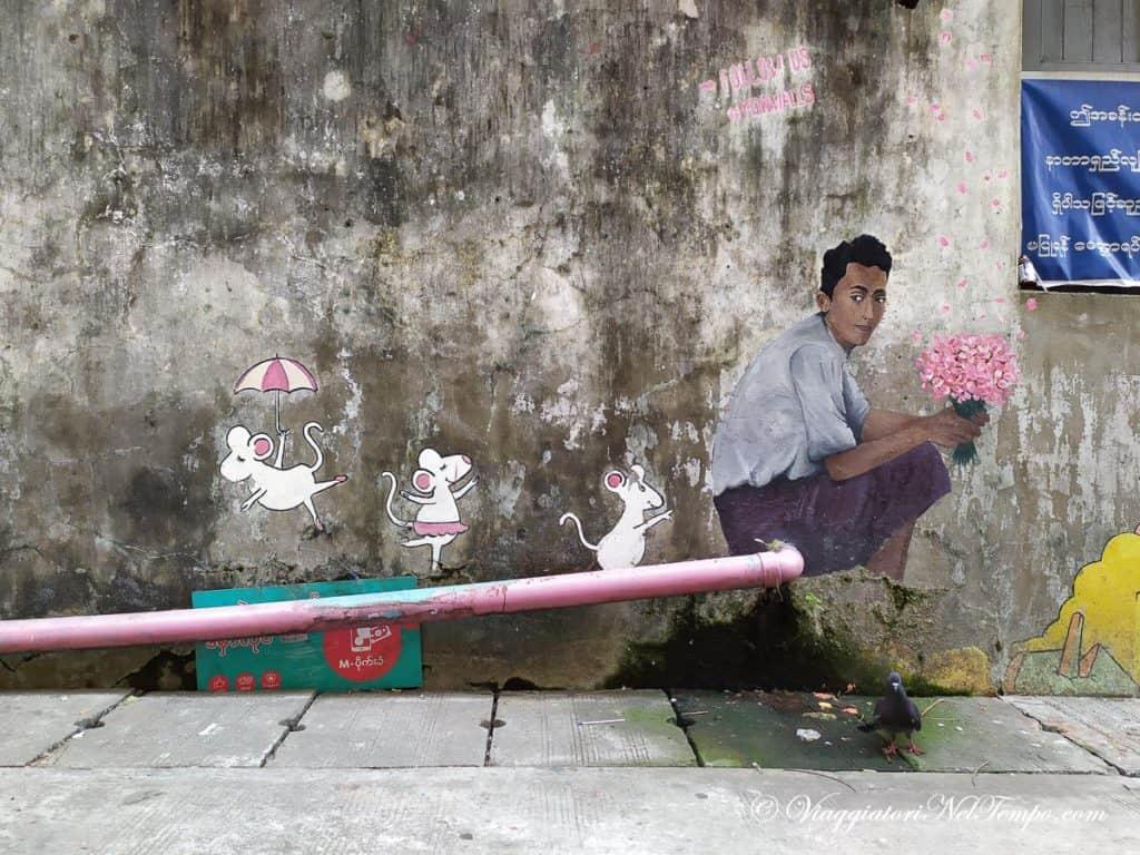 Yangon Street Art - 35th Street Upper Block -BAR ST ALLEY