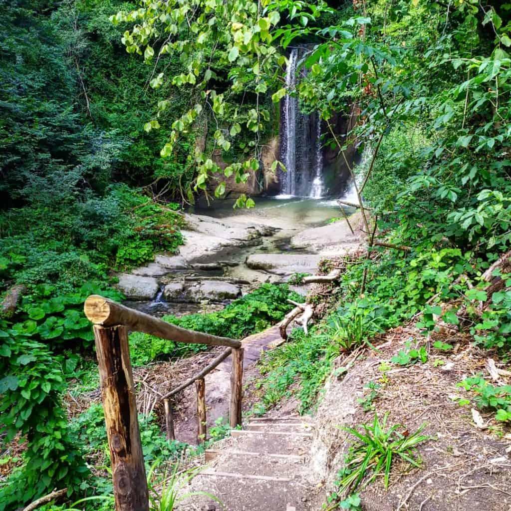 cascate di sarnano - cascata antico molino